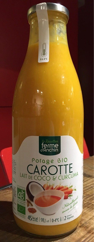 Potage biologique carotte coco curcuma - Product - fr