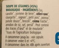 Soupe 8 légumes - Ingrediënten - fr