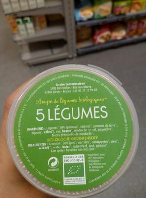 Soupe de Légumes Biologiques 5 Légumes - 4