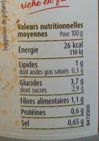 Gaspacho Andalou - Voedingswaarden - fr