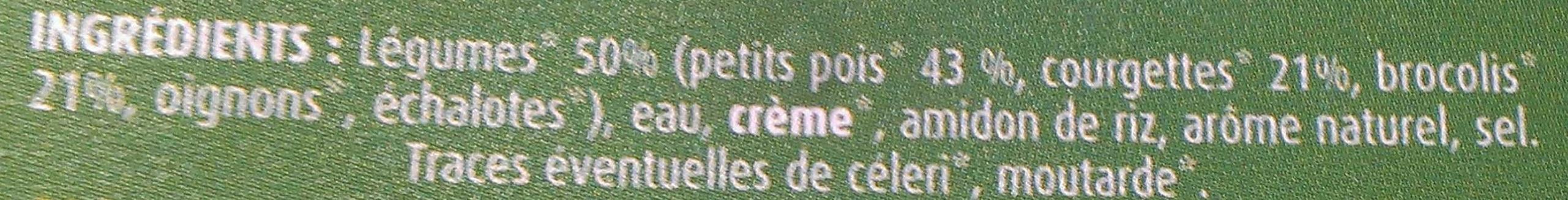 Soupe petit pois brocoli et courgettes bio - Ingrediënten - fr