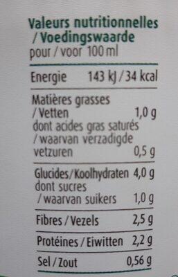 Soupe petit pois brocoli et courgettes bio - Voedingswaarden - fr