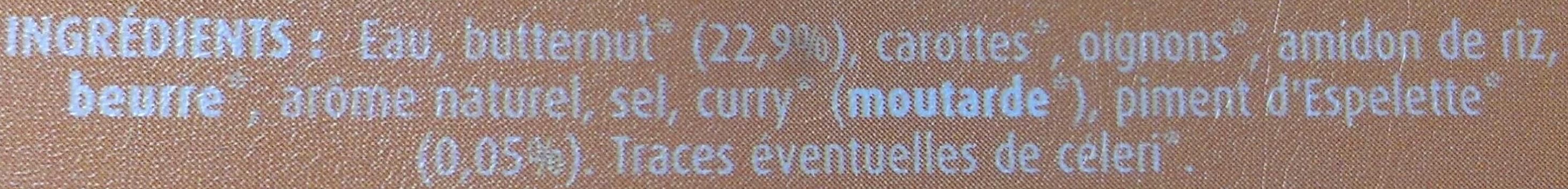 Butternut & Piment d'Espelette - Ingrediënten - fr