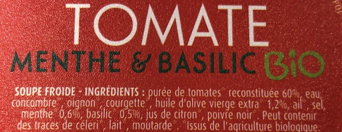 Tomate Menthe et Basilic Bio - Ingrediënten - fr