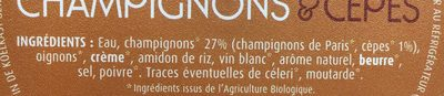 velouté champignons - Ingrediënten - fr