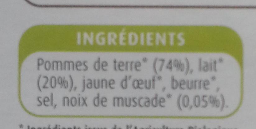 Purée Pomme de Terre et Noix de Muscade - Ingrediënten - fr