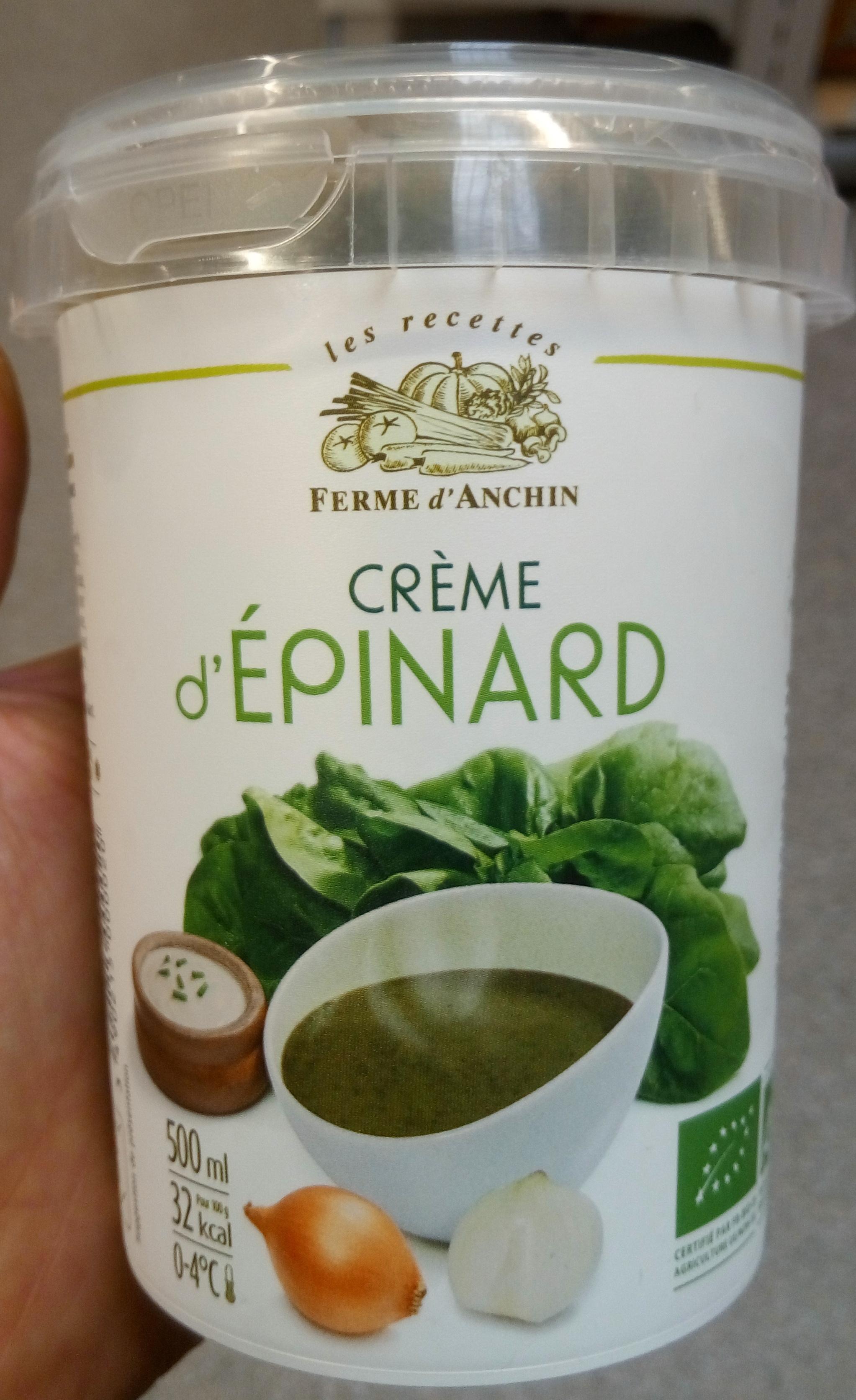 Crème d'épinard - Product - fr