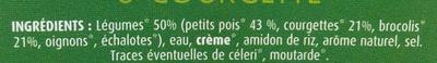 Petits pois, brocoli & courgette - Ingrediënten - fr