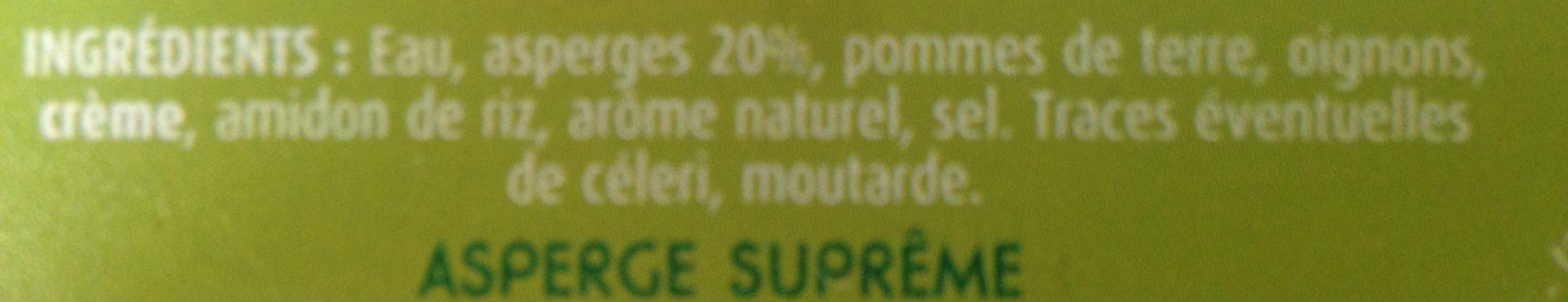 Soupe de légumes Suprême Asperge, pot - Ingrediënten - fr