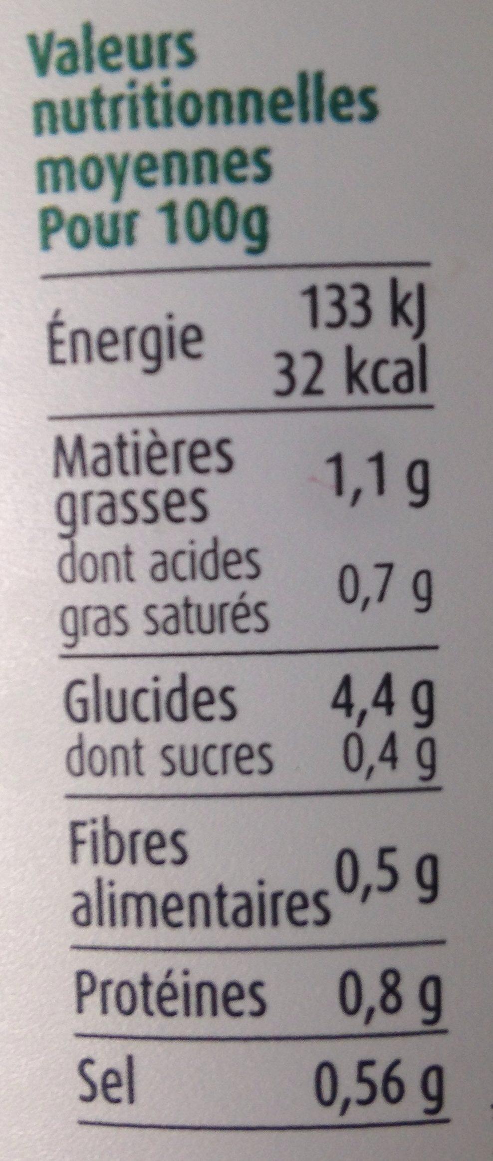 Soupe de légumes Suprême Asperge, pot - Voedingswaarden - fr