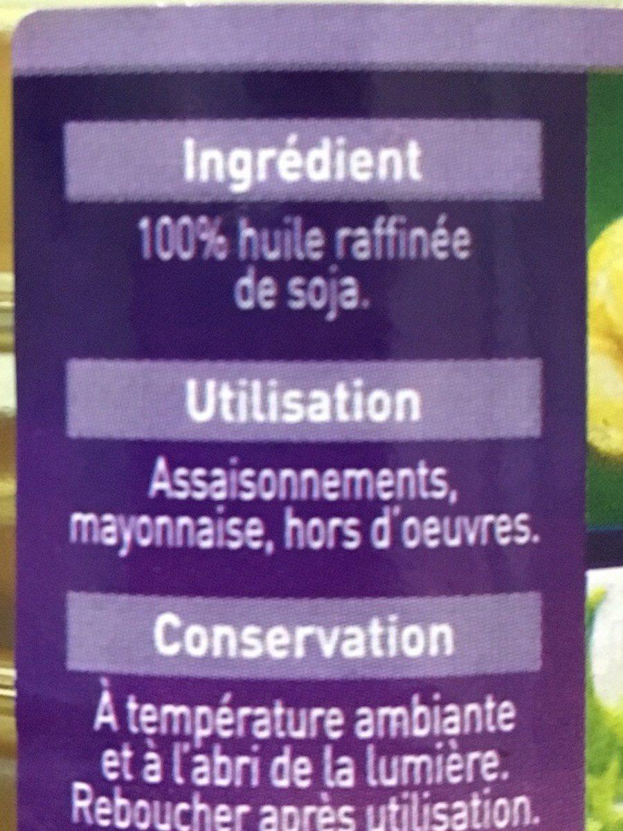 Huile de soja - Ingrédients