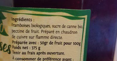 Confiture - Ingrédients - fr