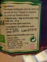 Confiture - Informations nutritionnelles - fr
