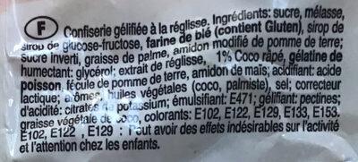 Rock 'n' Régliss - Ingredients - fr