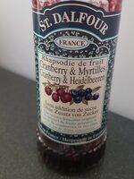 Confiture Cranberry & Myrtilles - Prodotto - fr