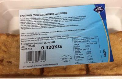 6 Portions de Colin d'Alaska Meunière Cuit 70G Prim - Product