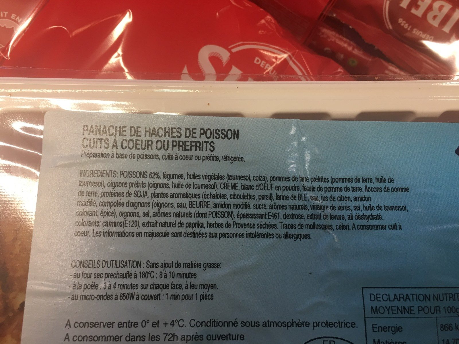 Panache de hache de poisson - Ingredients - fr