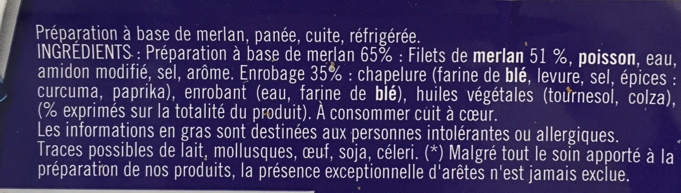 Panés au Merlan - Ingredients - fr