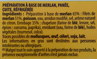 Panés au merlan - Ingrediënten - fr