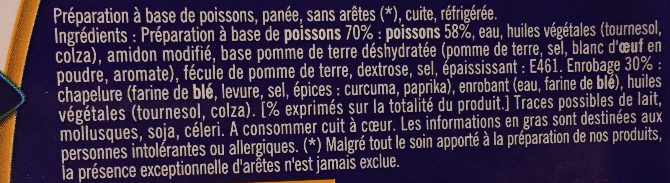 Poissonnettes Panées - Ingredients