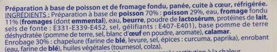 Poissons Panés au Fromage - Ingrédients