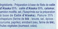 Panés au Colin d'Alaska - Ingredients