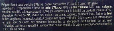 Panés au Colin d'Alaska - Ingrediënten - fr