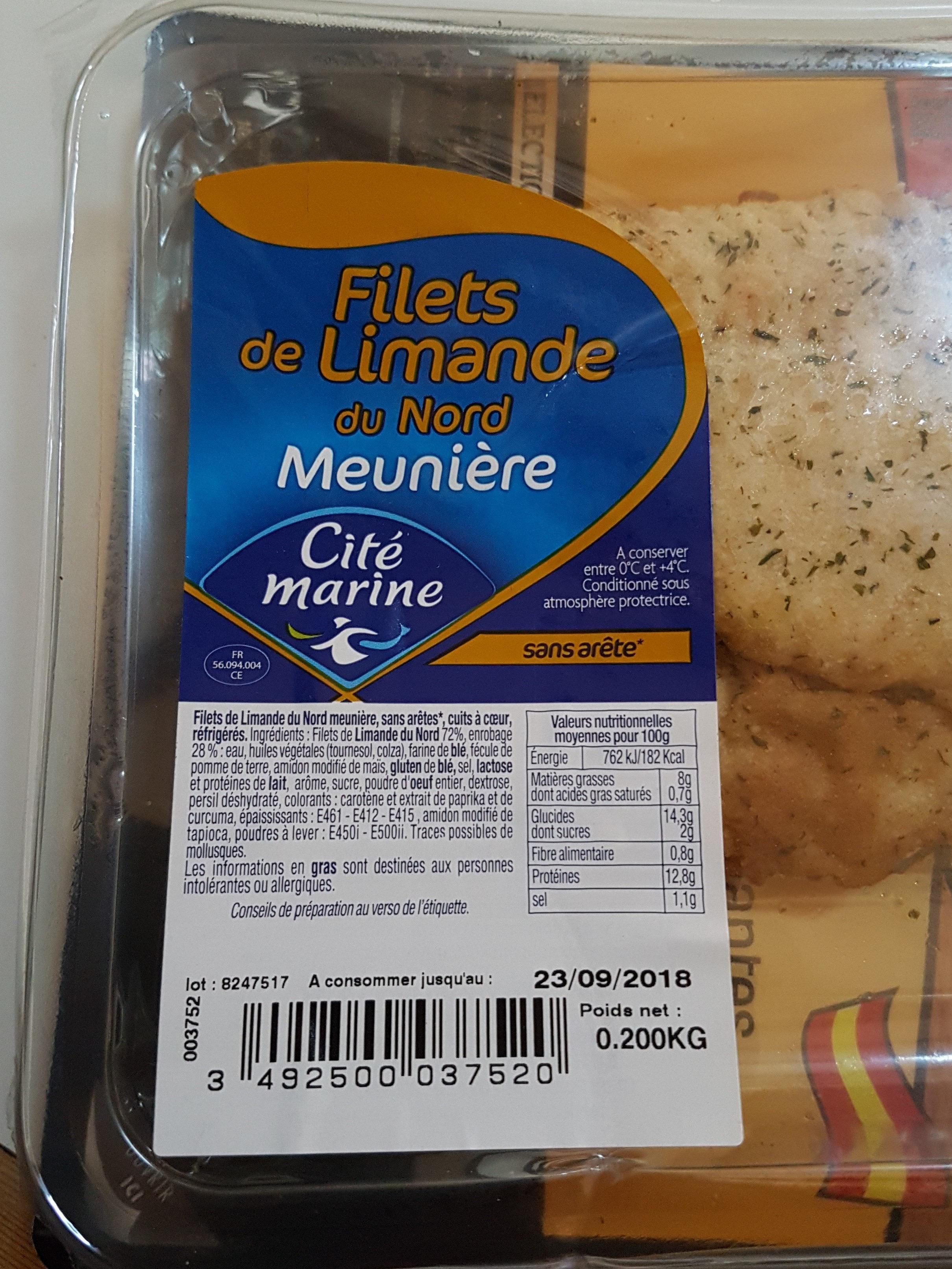 filets de limande du nord meuniere - Product