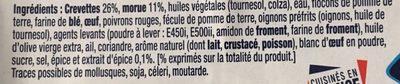 Accras aux Crevettes - Ingredients