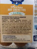 Accras aux Crevettes - Ingrédients - fr