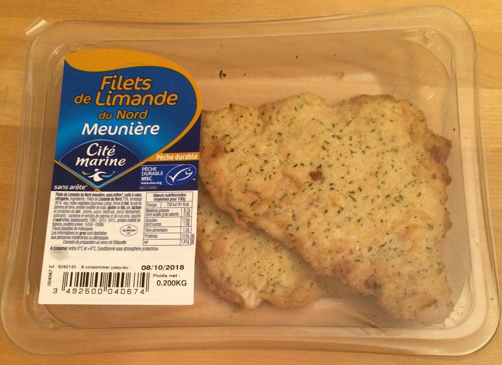 Filets de limande du Nord Meunière - Produit