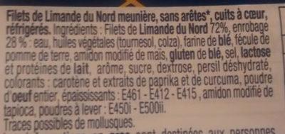 Filets de limande du Nord Meunière - Ingrédients