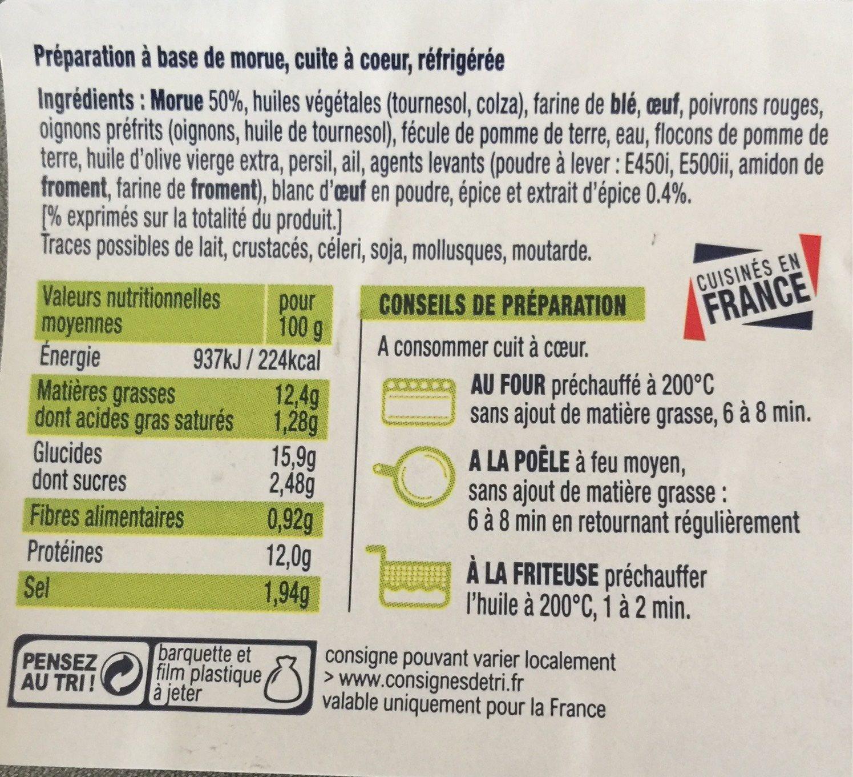 Accras de morue - Nutrition facts