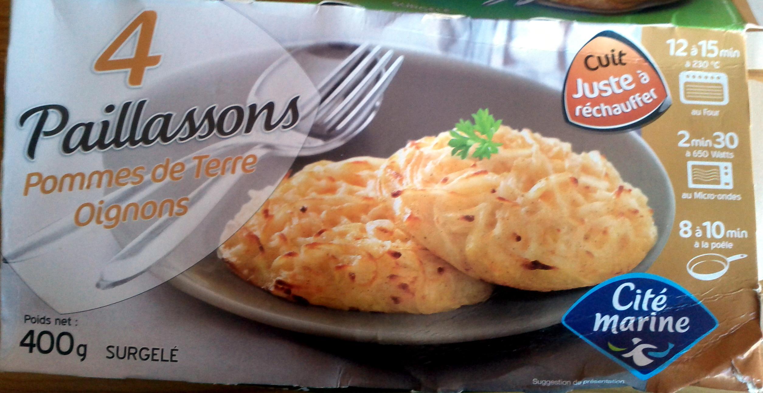 4 paillassons pommes de terre oignons - Product - fr