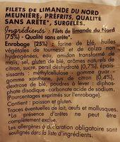 Plein Filet de Limande du Nord Meunière - Ingrédients - fr