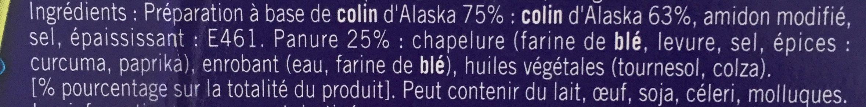 Petits poissons panés - Ingrediënten - fr