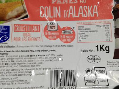 Panés au Colin d'alaska sans arêtes - Product