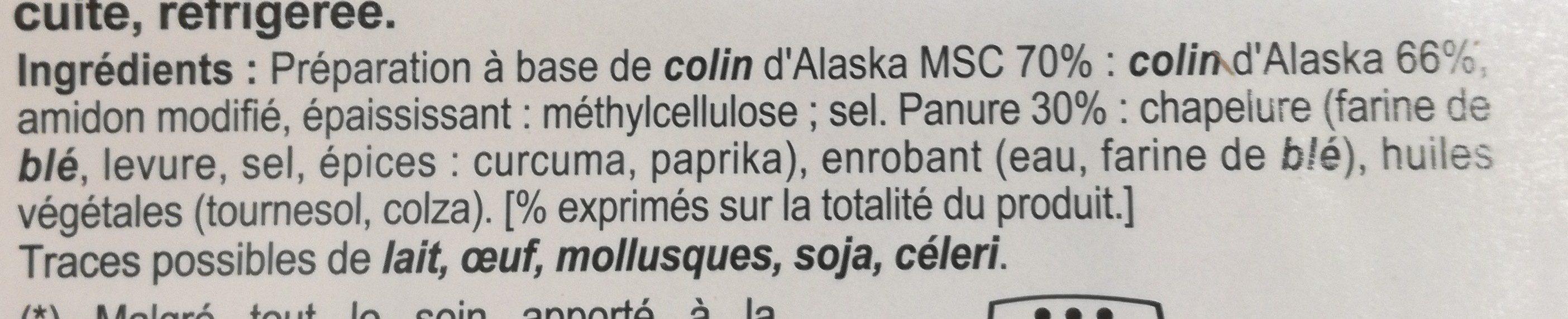 Panés au Colin d'alaska sans arêtes - Ingredients