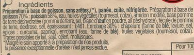 Portions au Poisson Pané - Ingredients