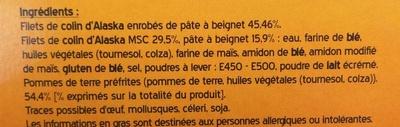 Fish & Chips - Ingrediënten - fr