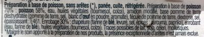 Poisson Pané sans Arêtes - Ingredients