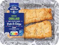 Filets de cabillaud façon Fish&Chips - Produit - fr