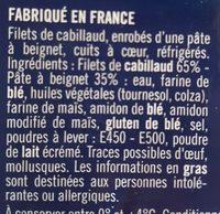 Filets de cabillaud façon fish & chips - Ingredients
