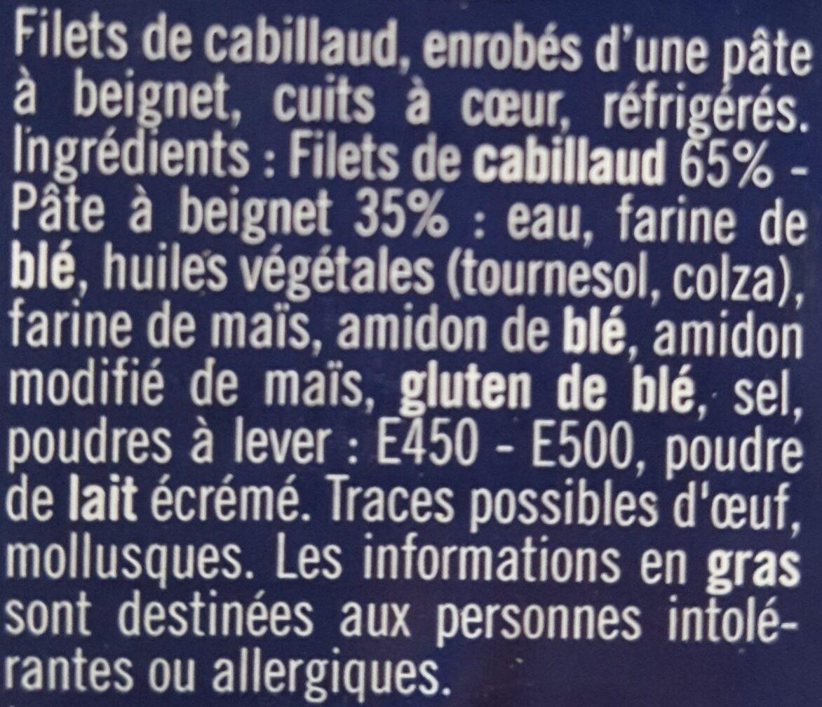 Filets de cabillaud façon Fish&Chips - Ingrédients - fr