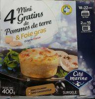 Mini gratin pomme de terre foie gras CITE MARINE - Produit - fr