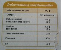 Mini gratin pomme de terre foie gras CITE MARINE - Informations nutritionnelles - fr