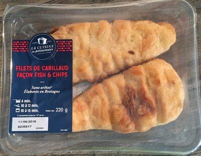 Filets de cabillaud facon fish & chips - Product - fr