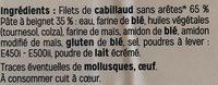 Filets de cabillaud facon fish & chips - Ingredients - fr