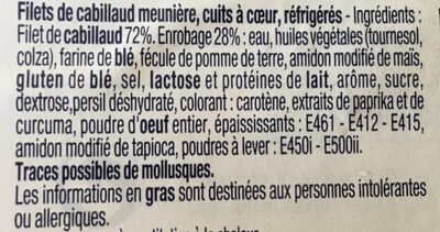 Filet de cabillaud meunière - Ingrediënten - fr
