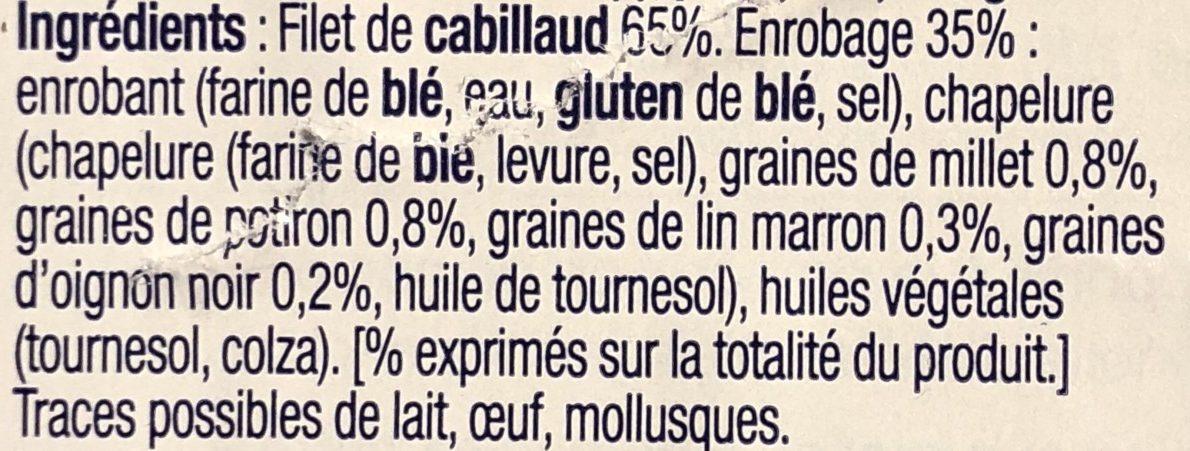 Aiguillettes de Cabillaud Panées Multigrains - Ingredients